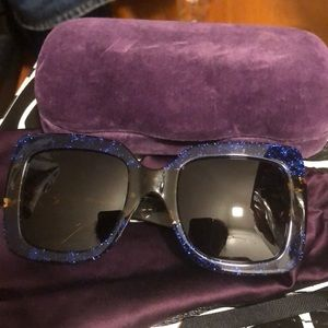 Gucci sparkly oversized sunglasses
